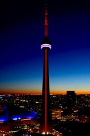 Sunset, CN Tower. @Toronto